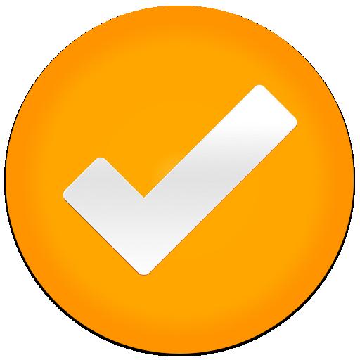 Resultado de imagen para CHECK MARK ORANGE emoji